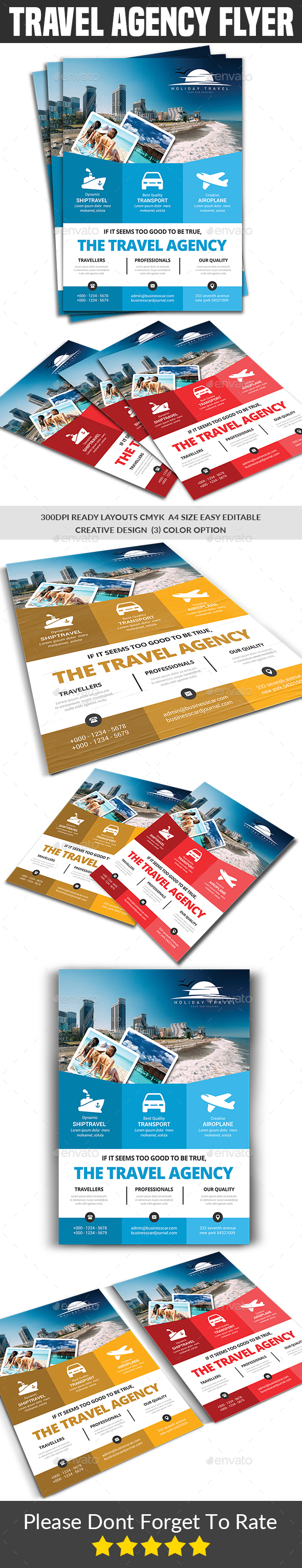 Travel Agency Flyer - Corporate Flyers