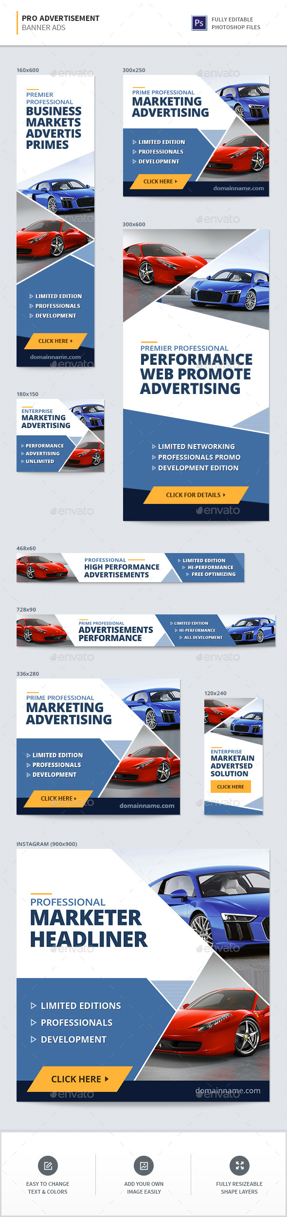 Advertisement Banners - Banners & Ads Web Elements