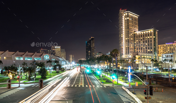 Harbor Drive San Diego California Port Downtown City Skyline - Stock Photo - Images