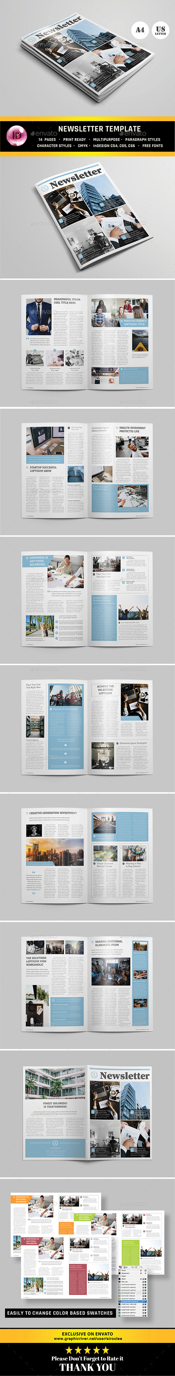 Multipurpose Newsletter v.04 - Newsletters Print Templates