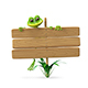 3D Illustration Frog with Wooden Plaque - GraphicRiver Item for Sale