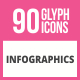 90 Infographics Glyph Icons - GraphicRiver Item for Sale