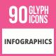 90 Infographics Glyph Icons