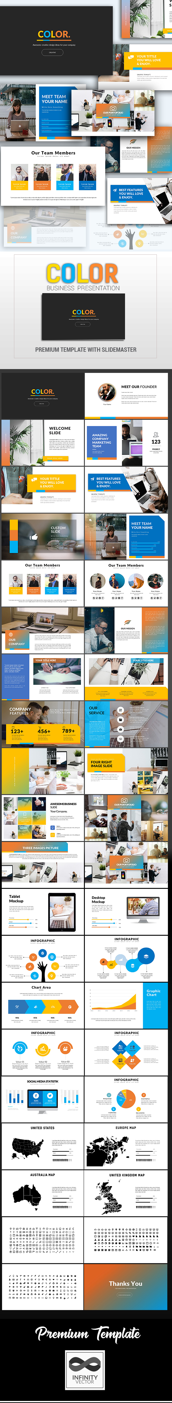 Color Multipurpose Presentation - PowerPoint Templates Presentation Templates
