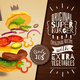 3D Hamburger Horizontal Poster - GraphicRiver Item for Sale
