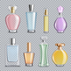 Perfume Glass Bottles Transparent Background - GraphicRiver Item for Sale