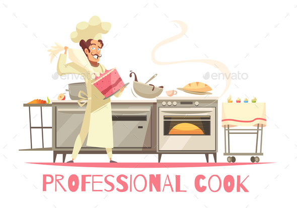 Professional Cook Composition - Food Objects