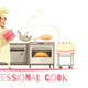 Professional Cook Composition - GraphicRiver Item for Sale