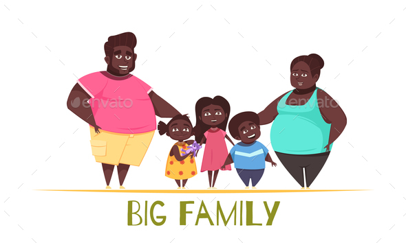 Big Family Illustration - People Characters