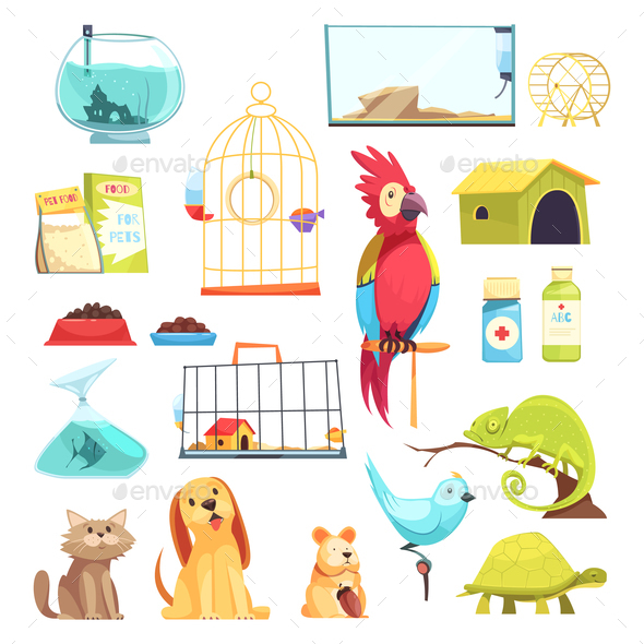 Pet Shop Set - Animals Characters