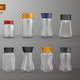 Coffee Jars Realistic Transparent - GraphicRiver Item for Sale