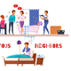 Neighbors Relations Cartoon Composition - GraphicRiver Item for Sale