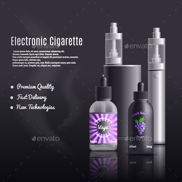Smoke Free Cigarettes Background - Technology Conceptual