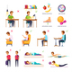 School Children Posture Collection - GraphicRiver Item for Sale