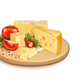Cheese Vegetables Composition