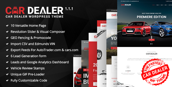 Image of Car Dealer - The Best Car Dealer Automotive Responsive WordPress Theme