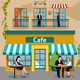 Business Lunch People Flat Composition - GraphicRiver Item for Sale