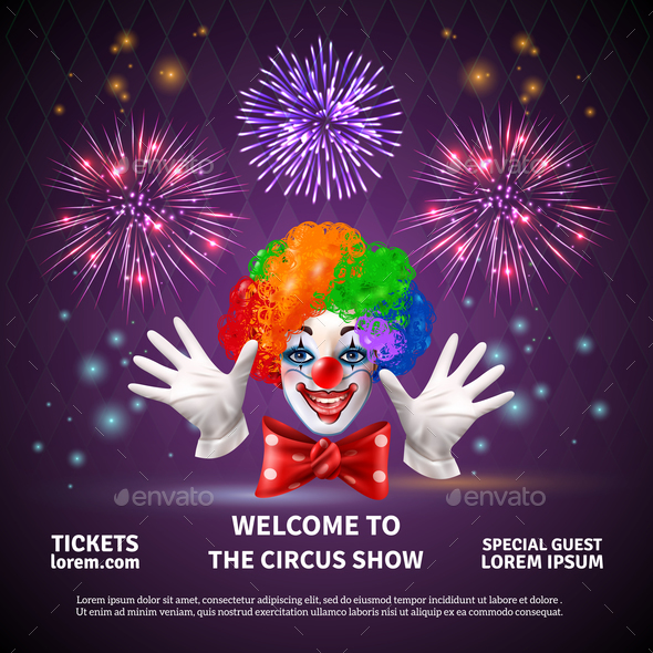 Fireworks Circus Show Background - Miscellaneous Vectors