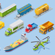 Isometric Logistic Transportation Set - GraphicRiver Item for Sale