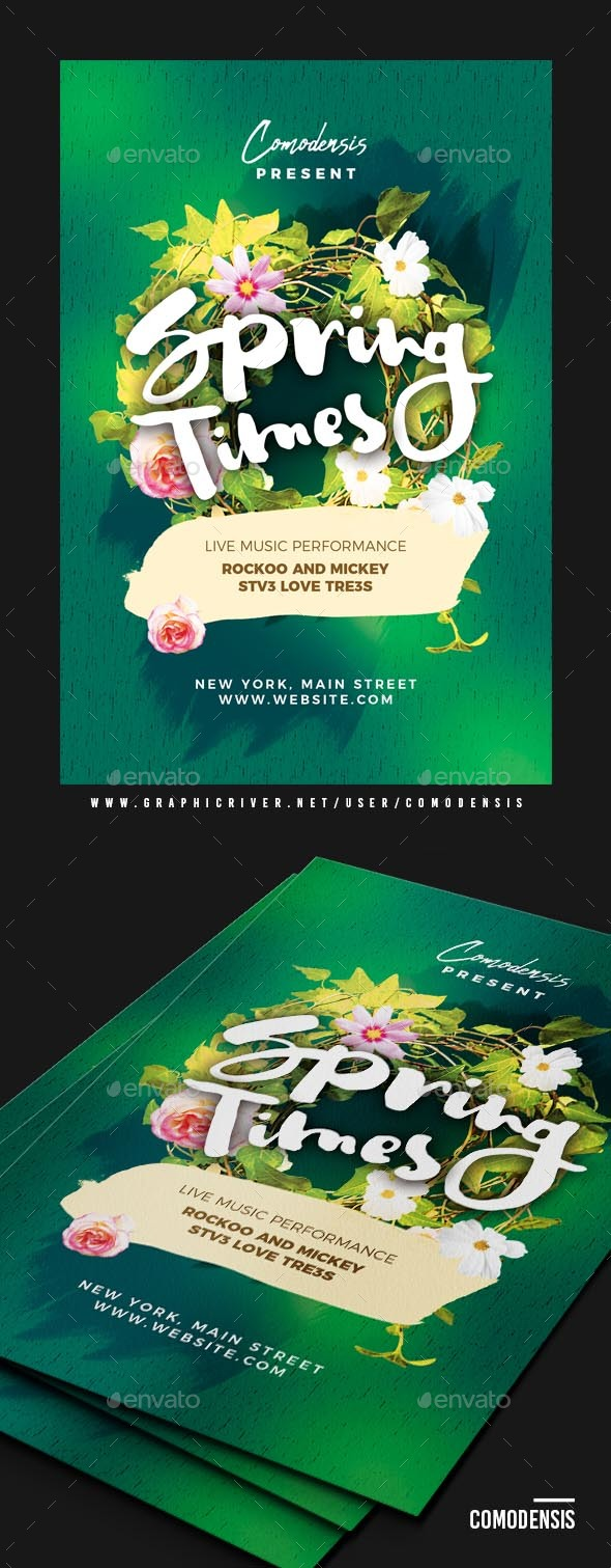 Spring Party Flyer Templates - Clubs & Parties Events