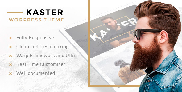 Image of Kaster — Creative, Blog, Portfolio WordPress Theme for Artists, Agencies, Freelancers & Photographer