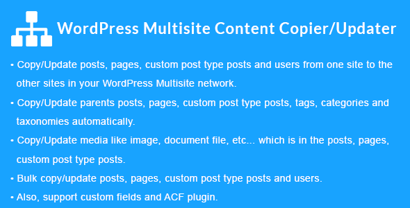 WordPress Multisite Content Copier/Updater - CodeCanyon Item for Sale