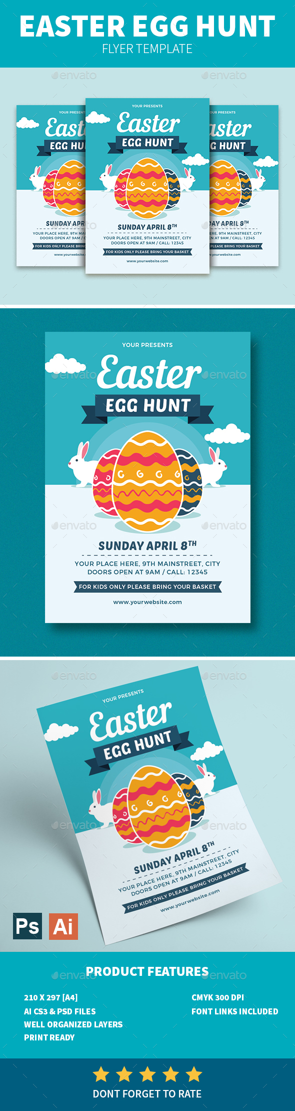 Easter Egg Hunt Flyer - Holidays Events