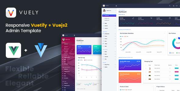 Vuely : Vuejs 2 Material Design Admin Template