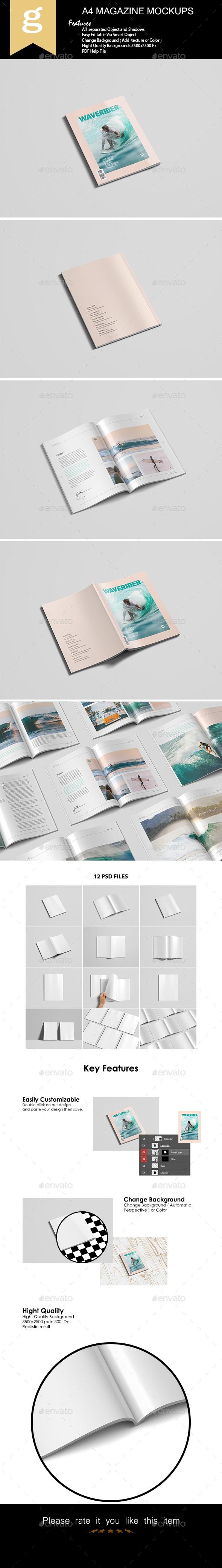 A4 Magazine Mock-Up - Magazines Print
