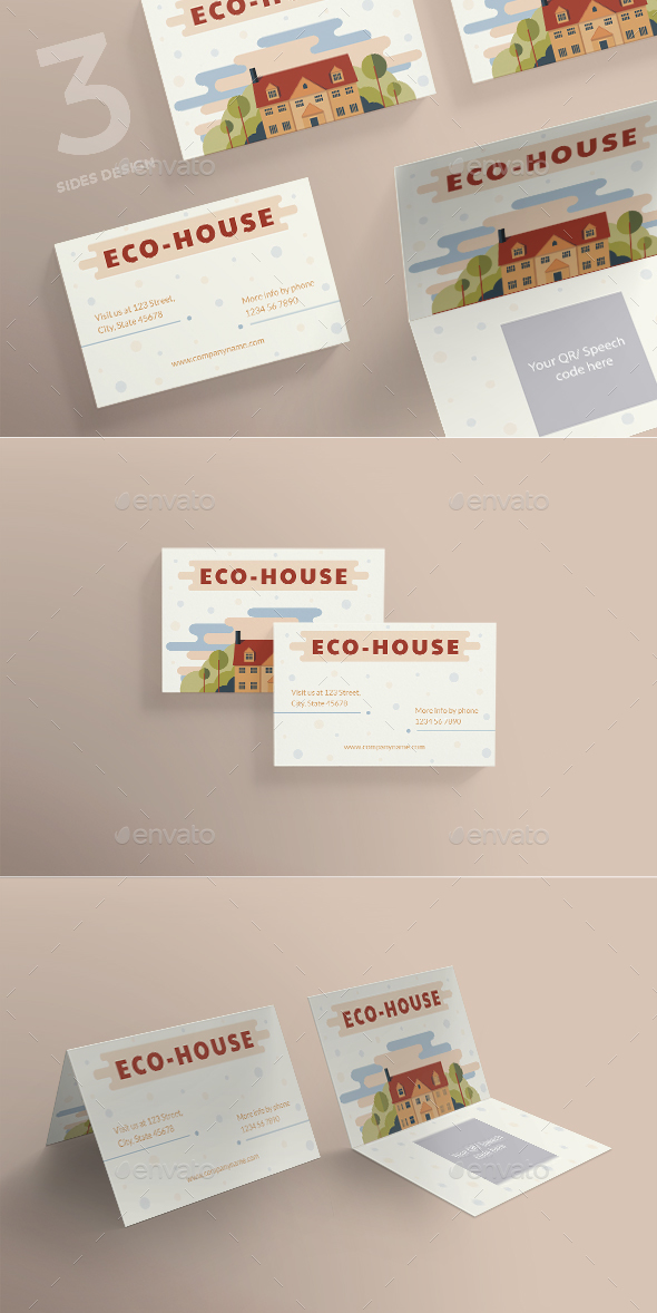 Eco House Business Card - Industry Specific Business Cards