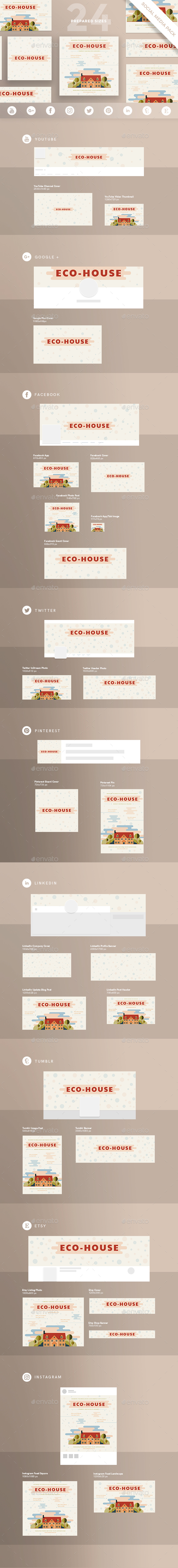 Eco House Social Media Pack - Miscellaneous Social Media