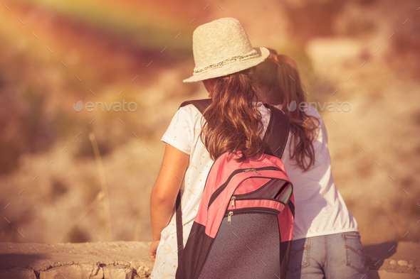 Best friends in summer camp - Stock Photo - Images