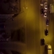 Evening Road Traffic. Night Illumination. Aerial Drone From Above View To Moving Cars. Aerial