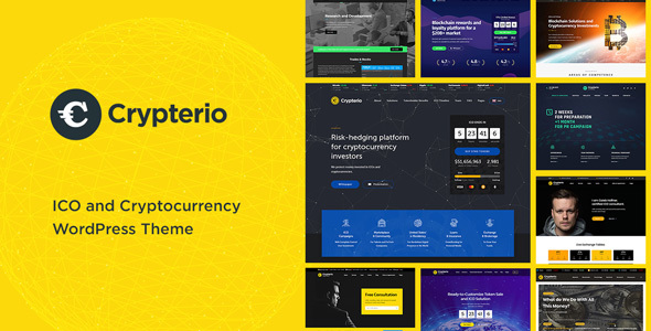 Image of Crypterio - Bitcoin, ICO and Cryptocurrency WordPress Theme