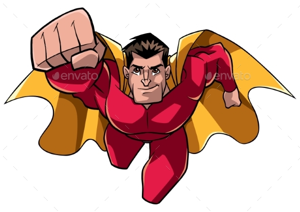 Superhero Coming at You - People Characters