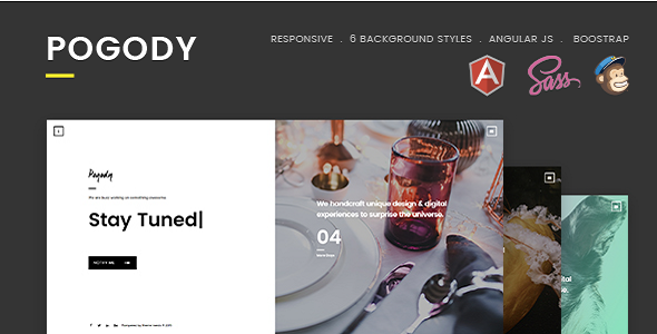 Pogody – Responsive HTML5 Coming Soon Template - Under Construction Specialty Pages