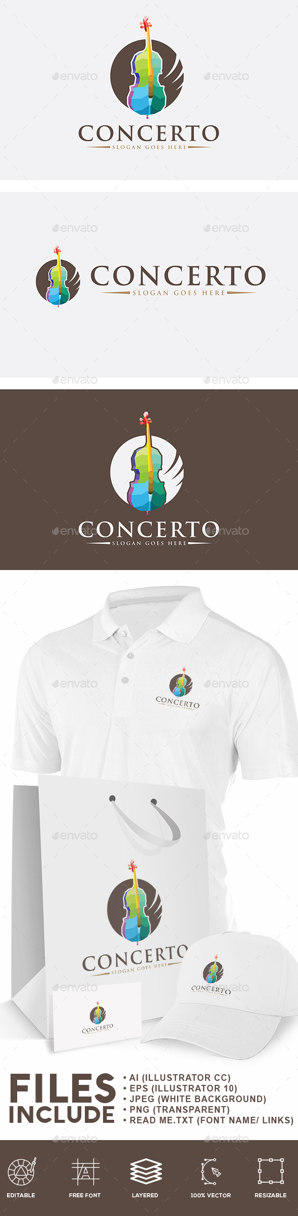 Musical Logo - Objects Logo Templates