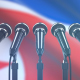 Speech Podium with North Korea Flag - VideoHive Item for Sale