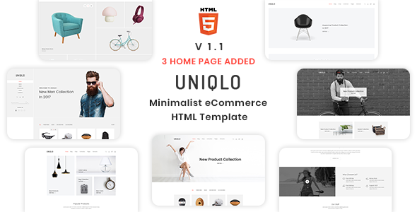 Image of Uniqlo - Minimalist eCommerce Template