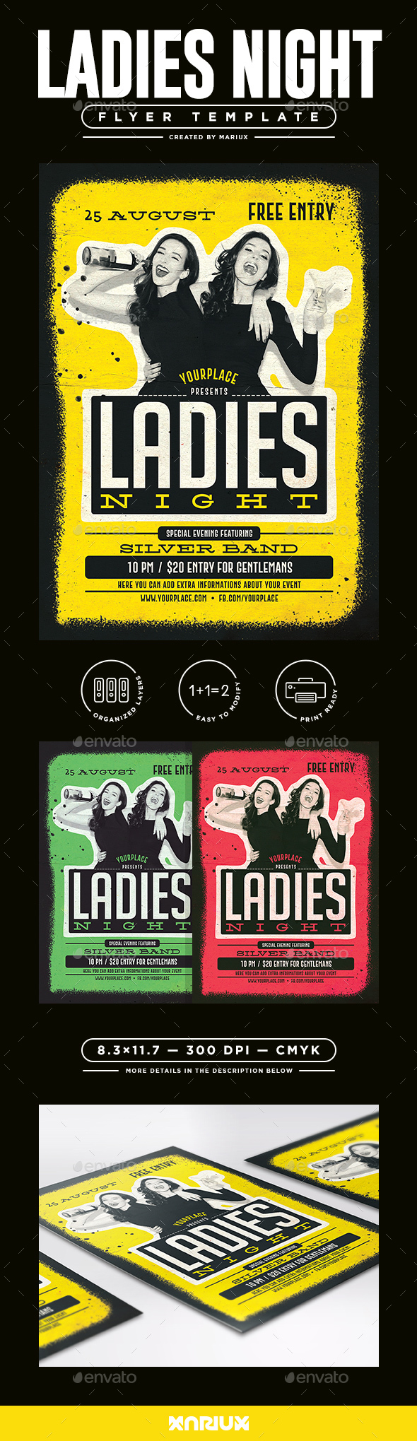 Ladies Night Flyer/Poster - Clubs & Parties Events