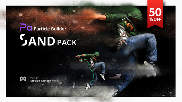 Videohive Particle Builder | Sand Pack: Dust Sand Storm Disintegration Effect Vfx Generator 21088788