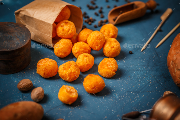 Sweet otato croquettes - Stock Photo - Images