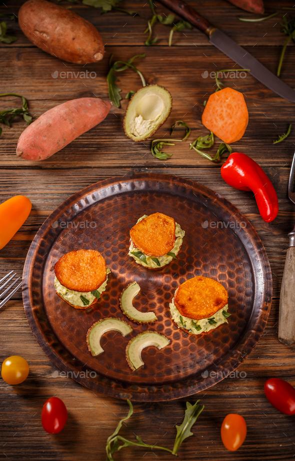 Fried sweet potato toast - Stock Photo - Images