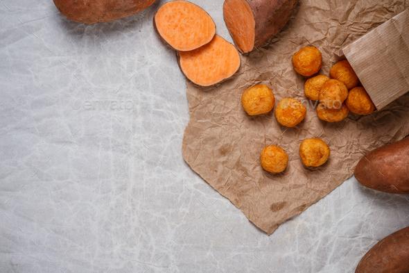 Sweet potato balls - Stock Photo - Images