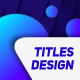 Modern Titles Design - VideoHive Item for Sale
