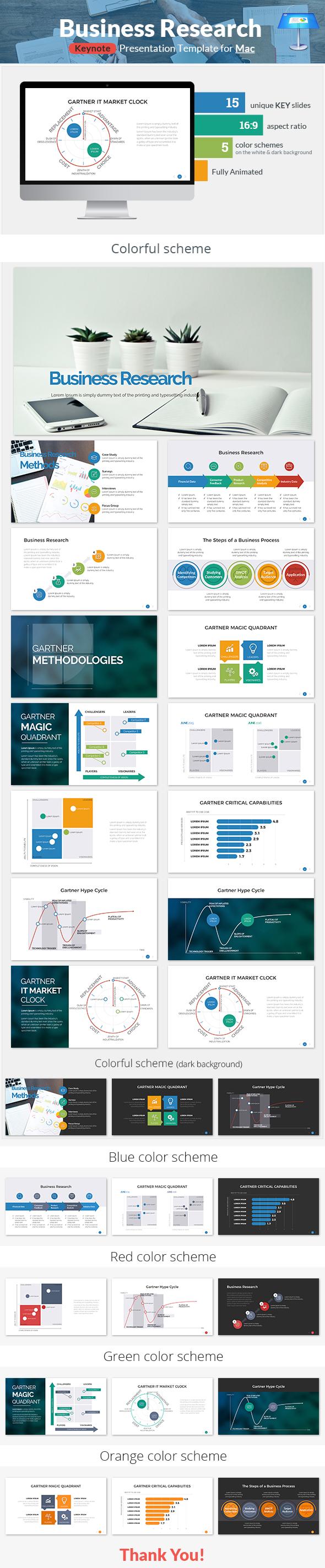 Business Research Keynote Presentation Template - Keynote Templates Presentation Templates