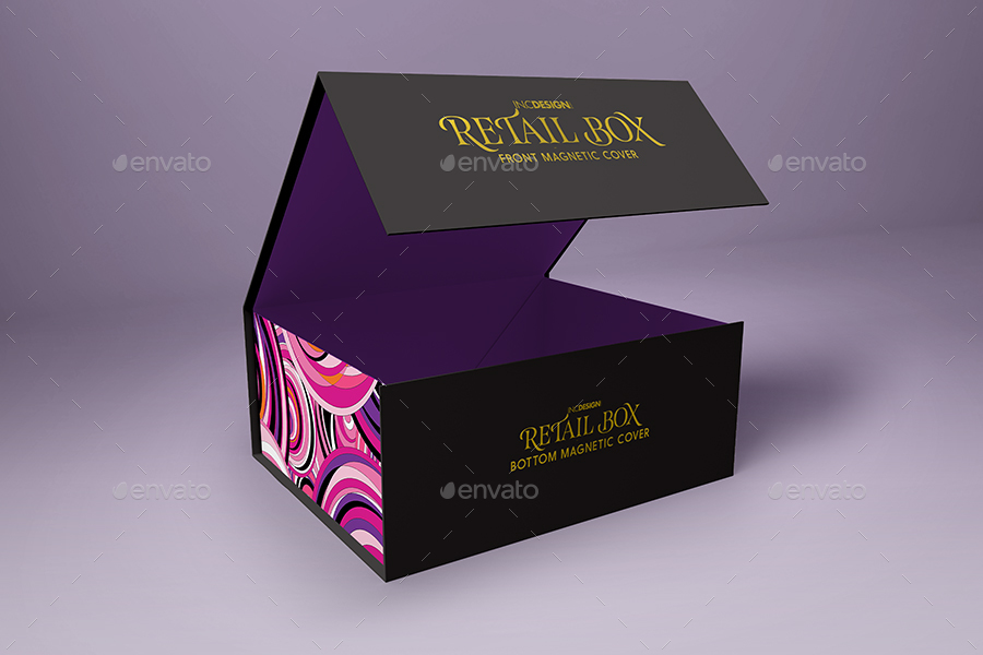 Retail Boxes Vol 4 Magnetic Box Packaging Mock Ups By