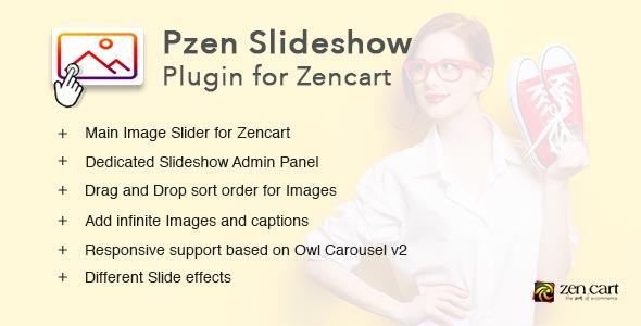 Pzen Slideshow - Responsive Image Slideshow plugin for Zen cart - CodeCanyon Item for Sale