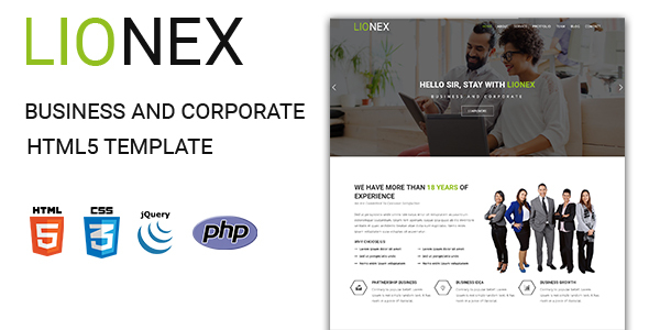 Image of Lionex - Business And Corporate  HTML5 Template