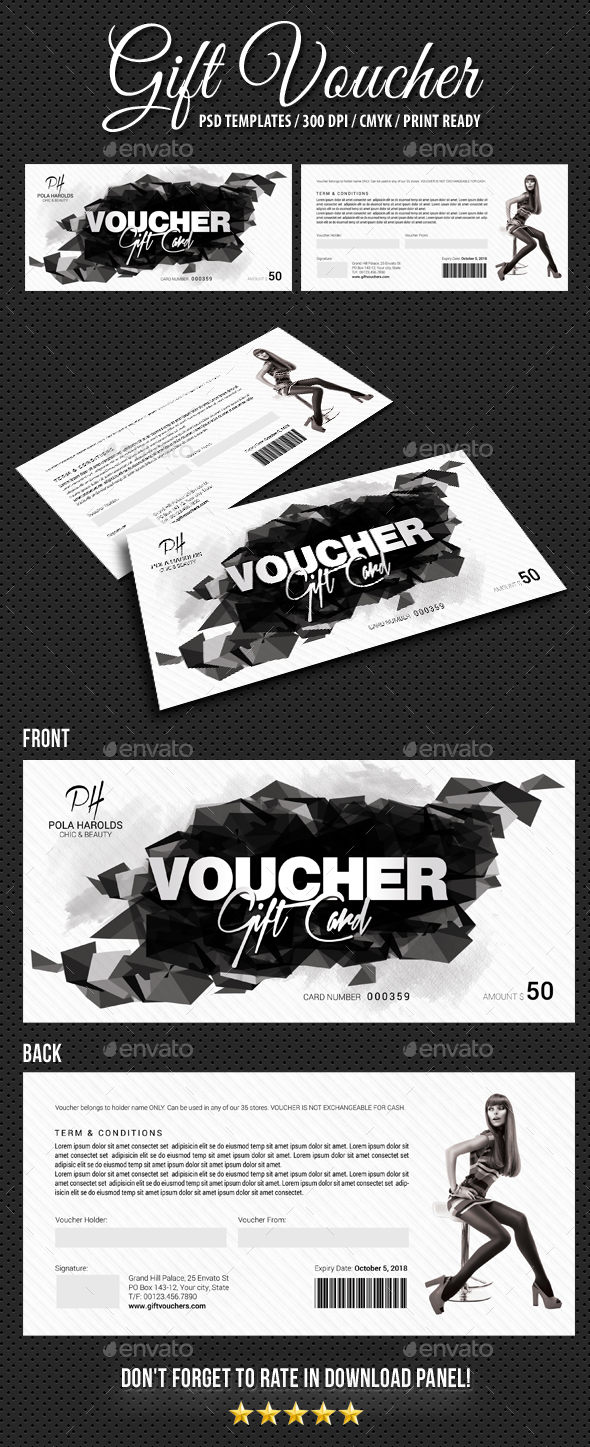 Gift Voucher V13 - Cards & Invites Print Templates